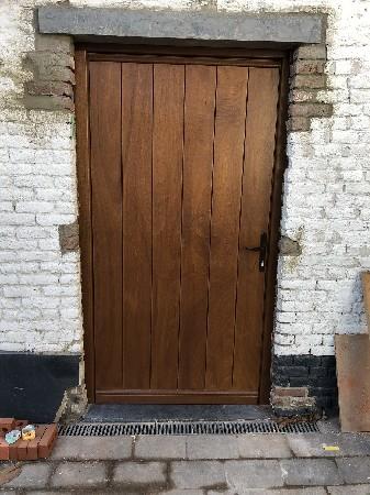 Porte en bois lazur bp chêne clair